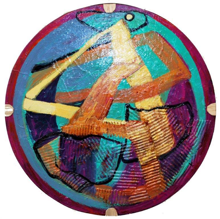 0030Pohyb kruhový formát 57 cm,acryl, plátno na podložke,2013