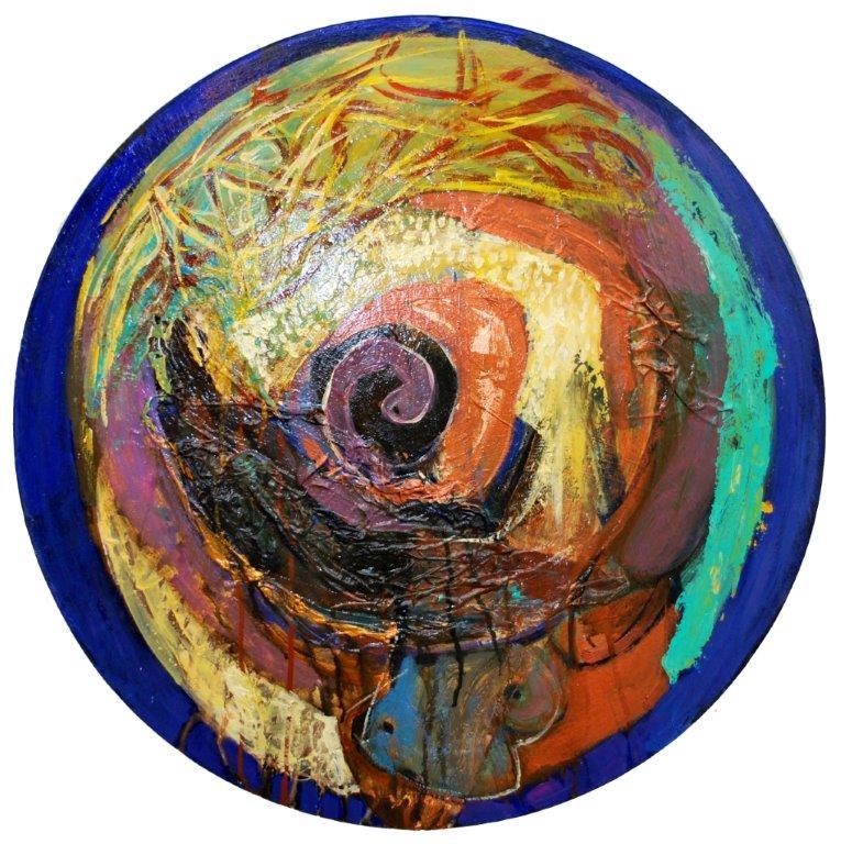 0031Seléne, kruh,70,00cm,plátno na podložke.acryl,2013